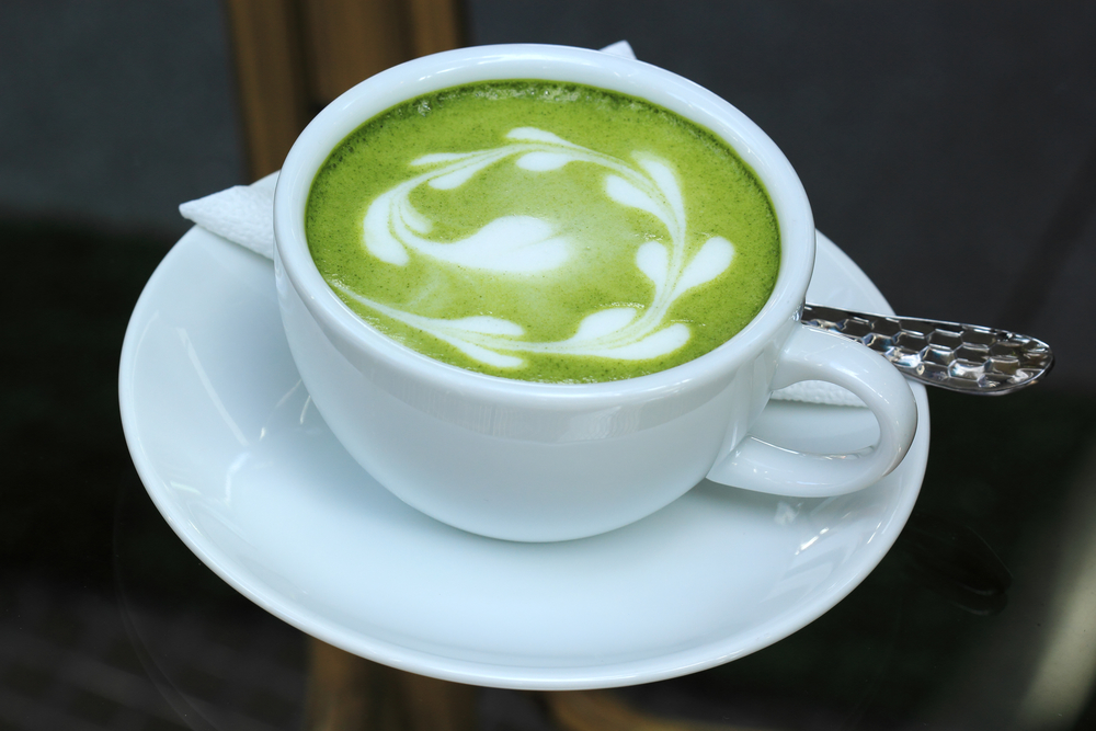 Green tea Latte/Matcha tea art