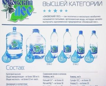 Природная питьевая вода «Оковский лес»