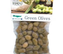 Натуральные зеленые оливки KURTES 200 гр