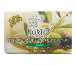 Натуральное оливковое мыло KURTES с ароматом жимолости - 90г