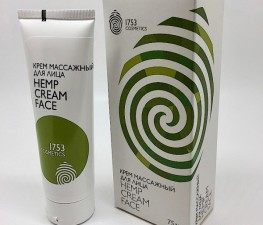 КРЕМ МАССАЖНЫЙ ДЛЯ ЛИЦА «HEMP CREAM FACE 1753 COSMETICS» - 75ML