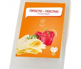 ПРОСТНО ПОСТНО растительный сыр со вкусом паприки, нарезка 150 г