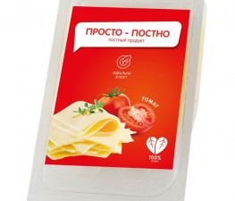 Сыр растительный нарезка с томатами «Просто — Постно», 150г